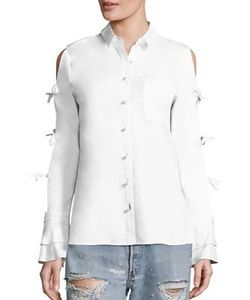 Jonathan Simkhai | Tie-Sleeve Cotton Oxford Shirt