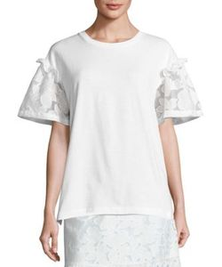 Mother Of Pearl   Rex Lace Sleeve Tee