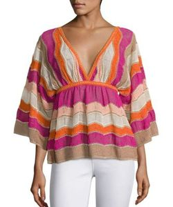 M Missoni | Lurex Zigzag Knit Top