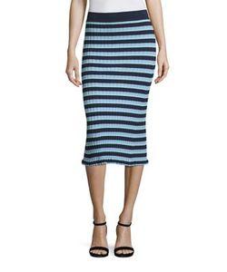 Altuzarra | Bloomfield Striped Rib-Knit Skirt