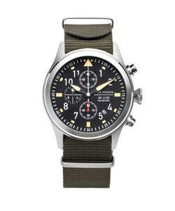 Jack Mason | Aviation Stainless Steel Chronograph Strap Watch