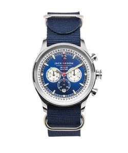 Jack Mason | Nautical Stainless Steel Chronograph Strap Watch