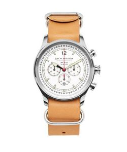 Jack Mason | Nautical Stainless Steel And Italian Leather Nato Strap Watch