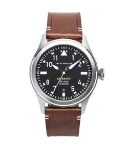 Jack Mason | Aviation Stainless Steel Italian Leather Automatic Strap Watch