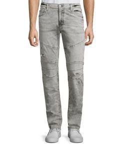 True Religion | Rocco Slim-Fit Biker Jeans