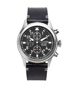 Jack Mason | Aviation Stainless Steel Italian Leather Chronograph Strap Watch