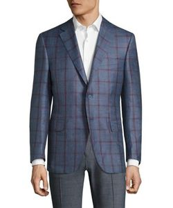 Canali | Checked Wool Jacket
