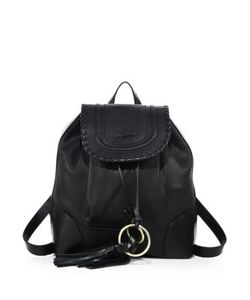 See by Chloé   Polly Leather Drawstring Backpack