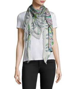 Roberto Cavalli | Feather Flowers Scarf
