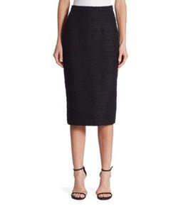 Carolina Herrera   Textu Pencil Skirt