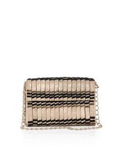 Nancy Gonzalez | Samurai Woven Stripe Crocodile Double-Chain Shoulder Bag