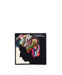 Olympia Le-Tan   Turn On Tune In Drop Out Milton Glaser Square Clutch