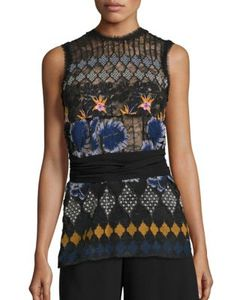 Yigal Azrouel | Tropical Lace Top