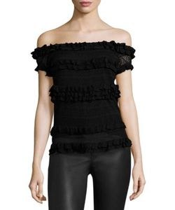 Polo Ralph Lauren | Ruffle Off-The-Shoulder Top