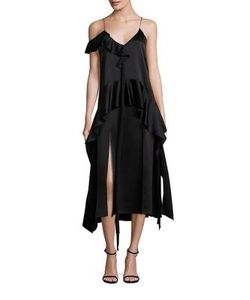 Jonathan Simkhai | Silk Ruffle Midi Dress