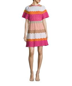 M Missoni | Colorblock Zigzag Striped Dress