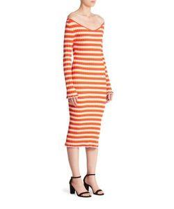 Altuzarra | Socorro Striped Off-The-Shoulder Dress