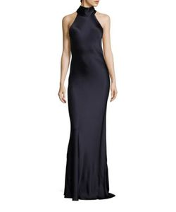 GALVAN | Silk Tie Neck Gown