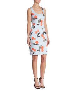 Carolina Herrera   Sleeveless Printed Dress