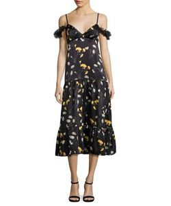 Mother Of Pearl   Malvina Cold-Shoulder Midi Dress