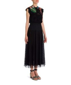 Valentino | Tropical Dream Embroide Fall Flower Lace Dress