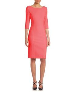 Carolina Herrera   Double-Face Wool Sheath Dress
