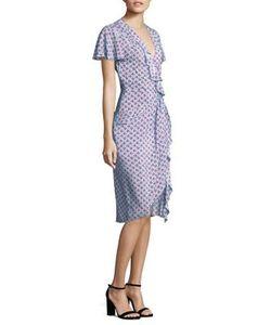 Altuzarra | Cherry-Print Ruffle Silk Dress
