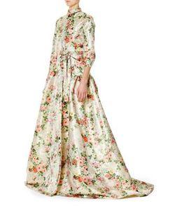 Carolina Herrera   Printed Gown
