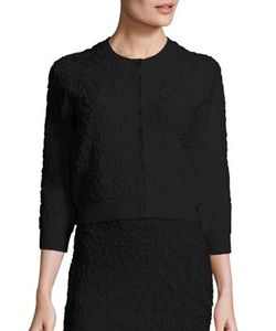 Michael Kors Collection | Patterned Button Front Cardigan