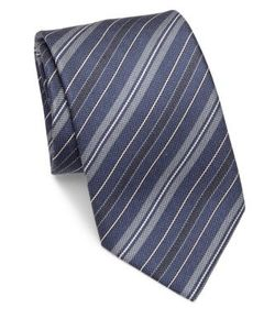 Brioni | Diagonal Striped Silk Tie