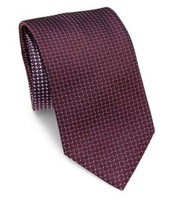 Brioni | Wheel Printed Silk Tie