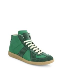 Maison Margiela | Replica Leather Suede Mid-Top Sneakers