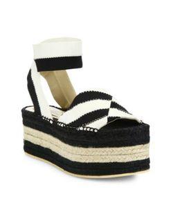 Stella McCartney | Striped Platform Espadrille Sandals