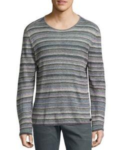 John Varvatos | Striped Linen Pullover