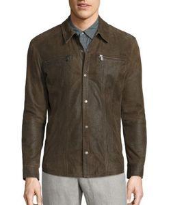 John Varvatos | Leather Shirt Jacket