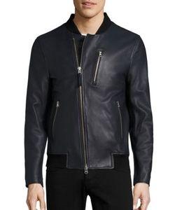 Mackage | Leather Bomber Jacket