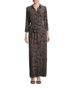 L'agence | Long Shirt Silk Dress