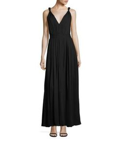 L'agence | Paloma Pleated Silk Dress