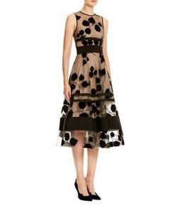 Carolina Herrera   Leaf Embroide Dress