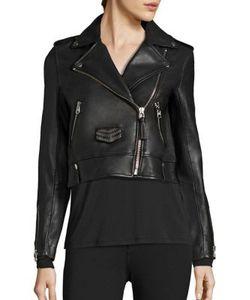 Mackage | Cropped Leather Studded Jacket