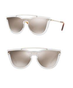 Valentino | Glamgloss Mirro Shield Sunglasses