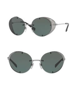 Valentino | Glamtech 52mm Round Sunglasses