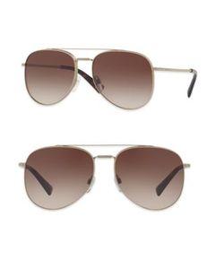 Valentino | Glamtech 56mm Aviator Sunglasses