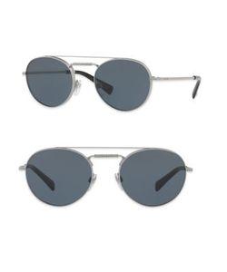 Valentino | Glamtech 51mm Round Aviator Sunglasses
