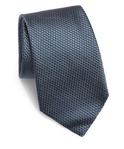Corneliani | Solid Quilted Silk Tie