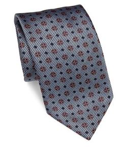 Brioni | Circle Printed Silk Tie