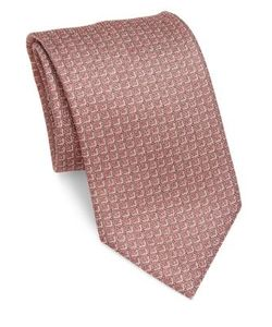 Brioni | Square Patterned Silk Tie