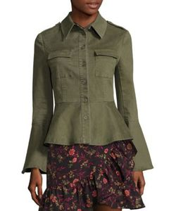 Scripted | Military Peplum Jacket