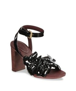 See by Chloé   Hina Leather Ankle-Strap Sandals