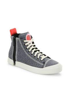 Diesel | Zip-Round Mid-Top Sneakers